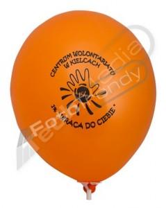 Balony z helem z prostym nadrukiem